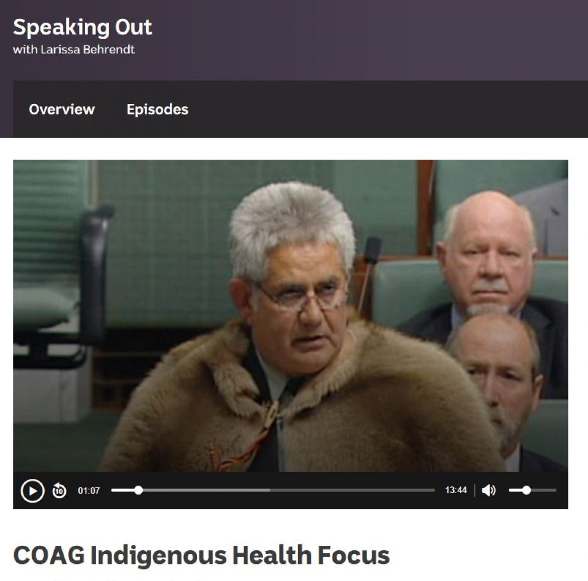 COAG Indigenous Health Focus