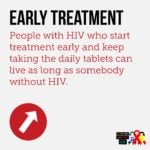 HIV Early treatment infographic